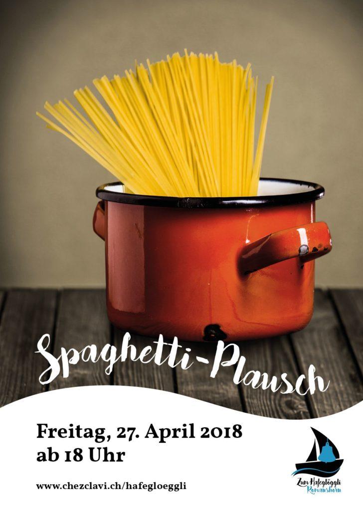 Spaghetti-Plausch für CHF 15 pro Person